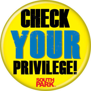 South Park Check Your Privilege Pin Button - Pop Culture Spot