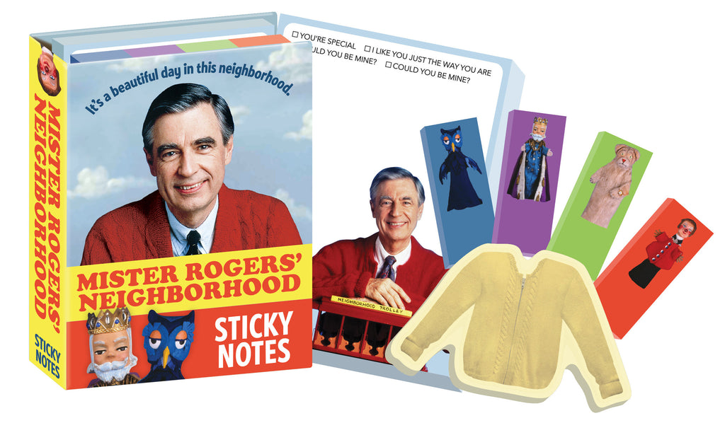 Mister Rogers' Neighborhood Sticky Notes Notepads Mr. Rogers - Pop Culture Spot