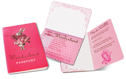 Alice in Wonderland Pocket Notebook Notepad Passport