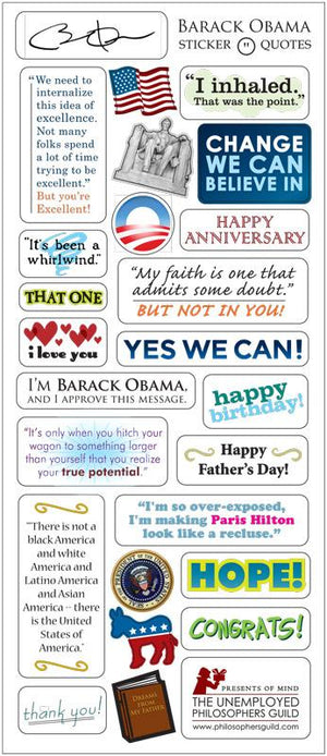 President Barack Obama Quotable Greeting Card and Stickers - Pop Culture Spot