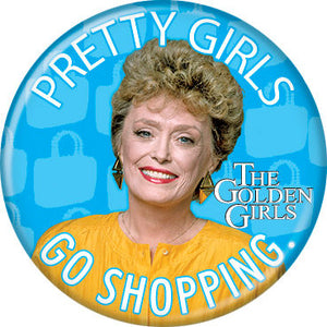 The Golden Girls Blanche Devereaux Button Pin - Pop Culture Spot