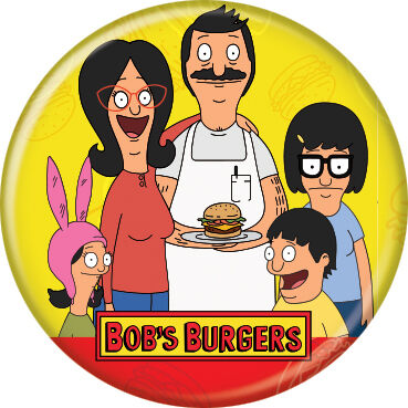 Bob's Burgers Logo Button Pin