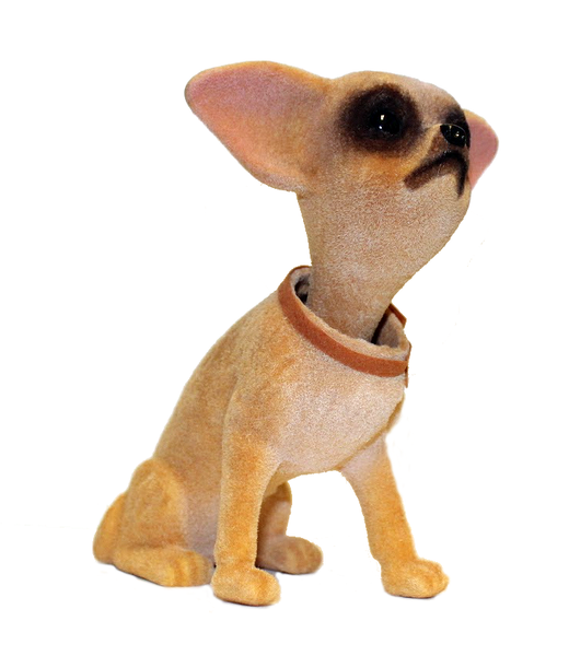 Chihuahua Dog Sitting Bobble Head Doll