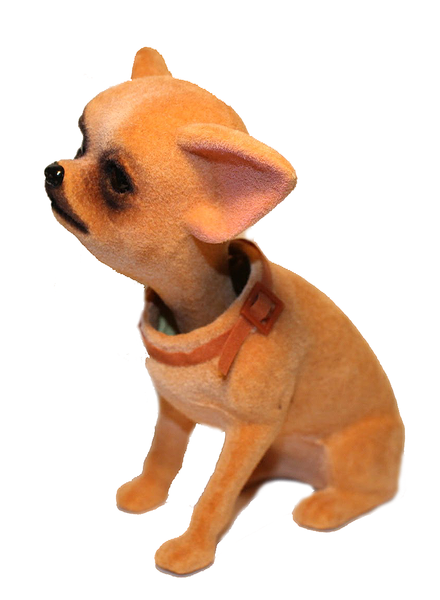 side profile bobble head chihuahua dog bobble head