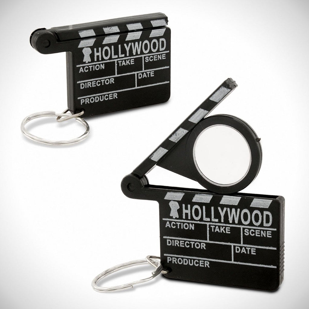 Hollywood Film Director's Slateboard Clapboard Magnifying Glass Keychain - Pop Culture Spot