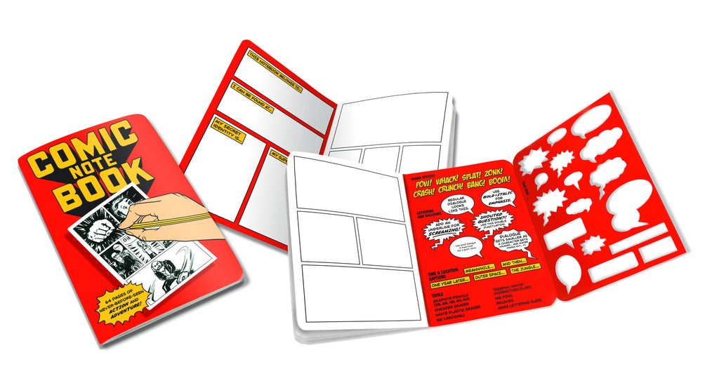 Draw Your Own Comic Book Drawing Pocket Sized Notebook - Pop Culture Spot