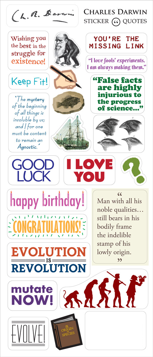 Charles Darwin Greeting Card & Stickers - Pop Culture Spot