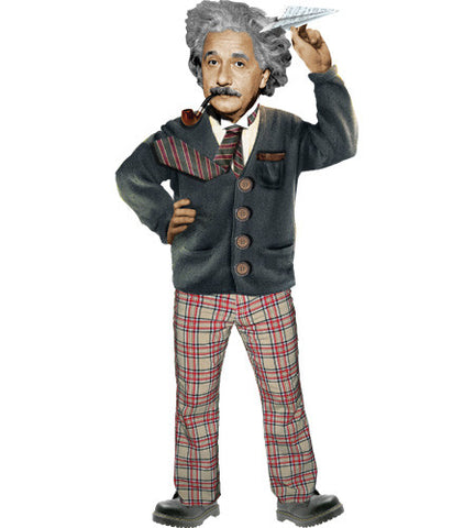Albert Einstein Quotable Greeting Card and Stickers
