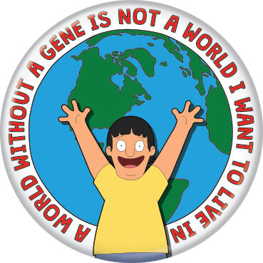 Bob's Burgers Gene Button Pin