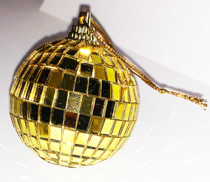 Hanging Gold Disco Ball Mirror Ball Christmas Tree Ornament - Pop Culture Spot
