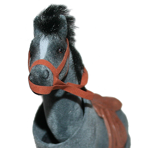 image of equestrian horse bobble head face