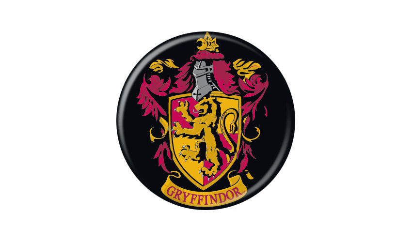 Harry Potter Gryffndor Crest Pin Button - Pop Culture Spot