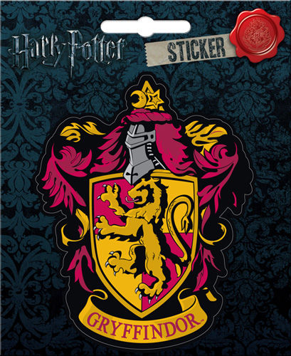 Harry Potter Gryffindor Crest Sticker Locker Laptop Scrapbook Decal - Pop Culture Spot