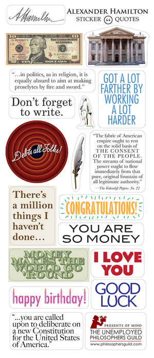Alexander Hamilton Greeting Card and Stickers - Pop Culture Spot