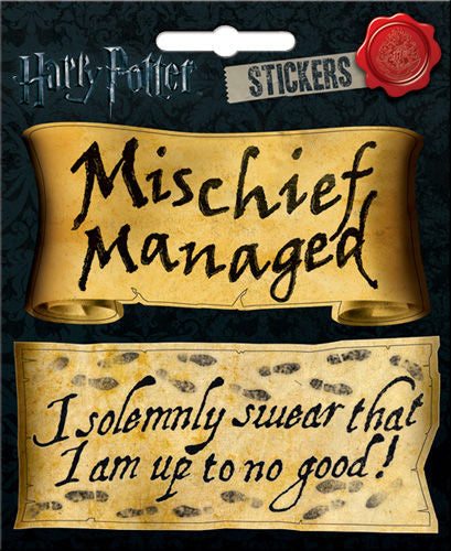 Harry Potter Mischief Managed Sticker Decal