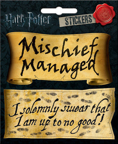Harry Potter Mischief Managed Sticker Decal - Pop Culture Spot