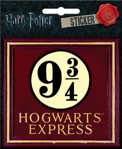 Harry Potter Hogwarts Express 9 3/4 Station Harry Potter Hogwarts Express Sticker Crest Sticker Notebook Locker Decal - Pop Culture Spot