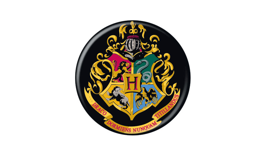Harry Potter Hogwarts Crest Pin Button - Pop Culture Spot