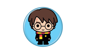 Harry Potter Animated Style Character Pin Button - Pop Culture Spot