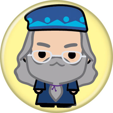 Harry Potter Albus Dumbledore Animated Style Character Pin Button - Pop Culture Spot