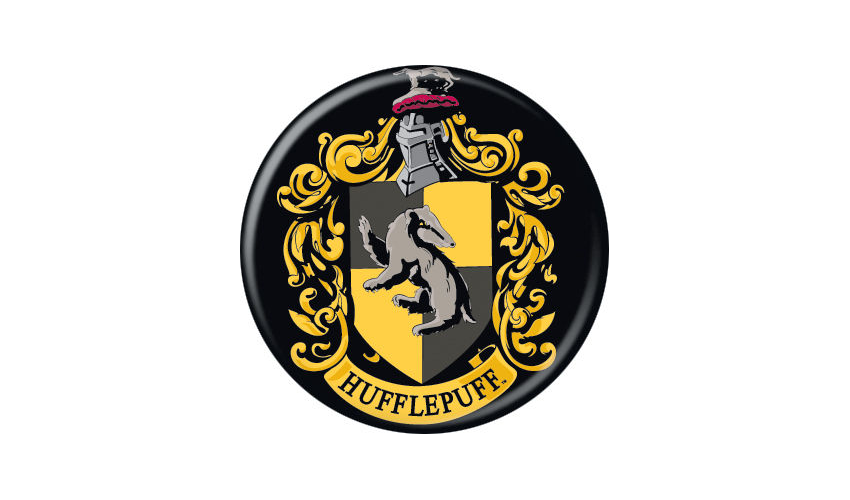 Harry Potter Hufflepuff Crest Pin Button