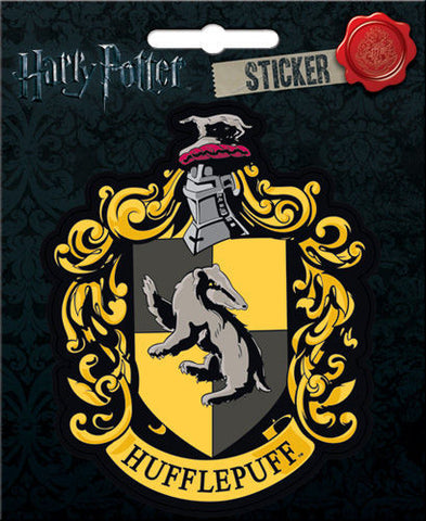 harry potter hufflepuff crest sticker