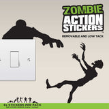 Zombie Wall Actions Stickers