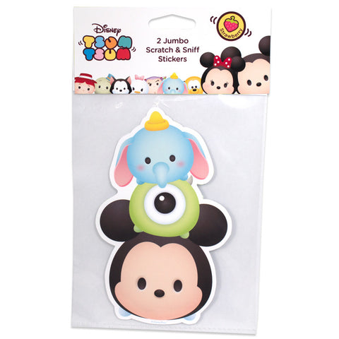 Disney Tsum Tsum Mickey Dumbo Mike Jumbo Scratch & Sniff Stickers