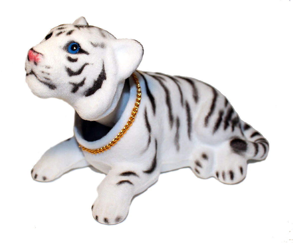 White Tiger Cat Bobble Head Doll - Pop Culture Spot