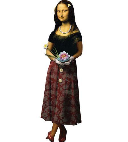 Mona Lisa Greeting Card and Stickers - Pop Culture Spot