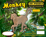 Monkey 3-D Wooden Puzzle Wood Craft Construction Set