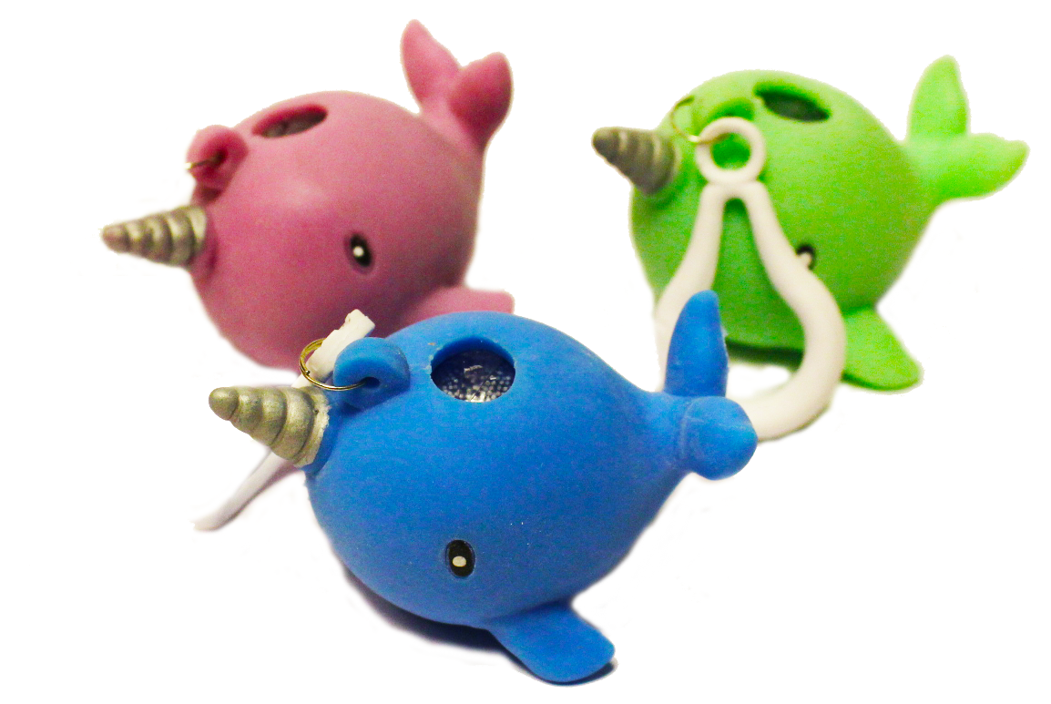 Pooping Narwhal Squeezy Keychain