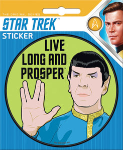 Star Trek Live Long and Prosper Mr. Spock Sticker Decal