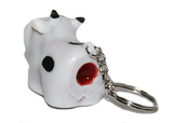 back view of the pooping cow key chain