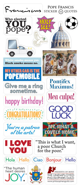 Pope Francis Quotable Greeting Card And Stickers Popculturespot