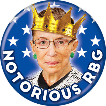 Notorious RBG Ruth Bader Ginsburg Button Pin