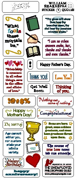 William Shakespeare Quotable Greeting Card & Stickers - Pop Culture Spot