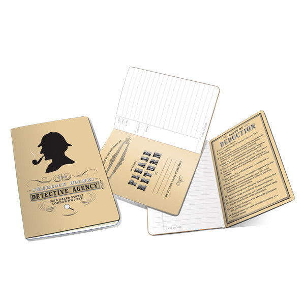 Sherlock Holmes Detective Paper Pocket Notebook - Pop Culture Spot