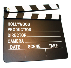 Hollywood Movie Film Director's Slateboard Clapper Clapperboard Prop - Pop Culture Spot