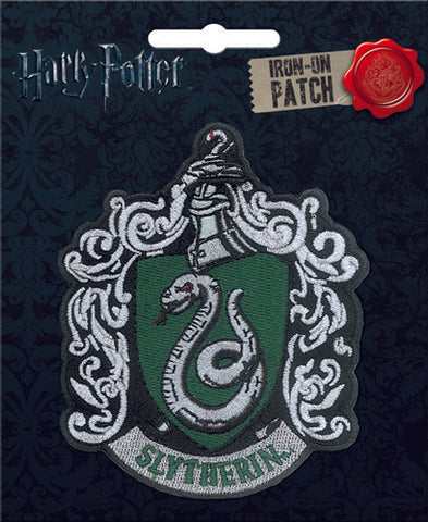 Harry Potter Slytherin Crest Iron-On Patch - Pop Culture Spot