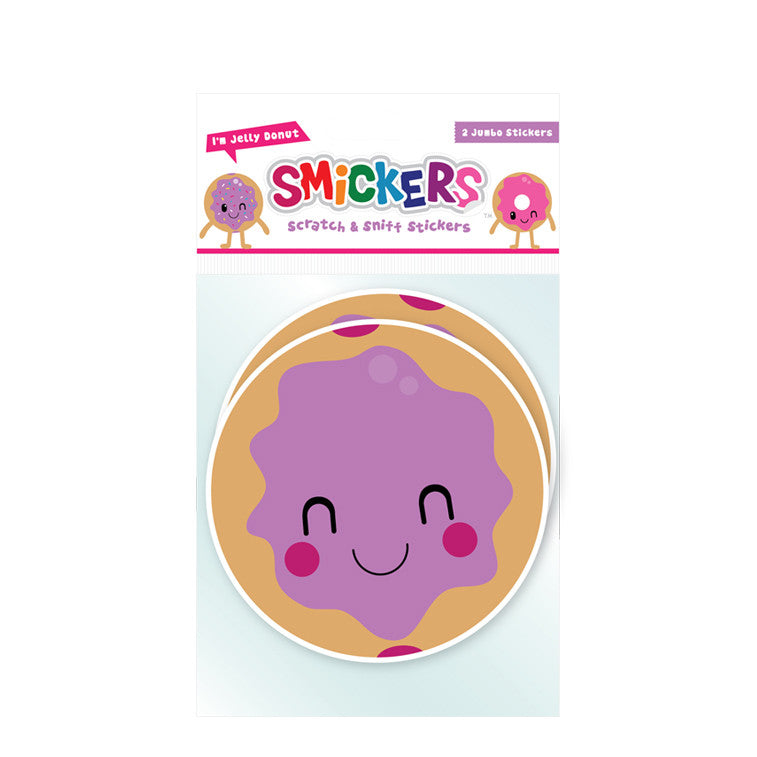 Smickers Jelly Donut Doughnut Scratch & Sniff Stickers - Pop Culture Spot