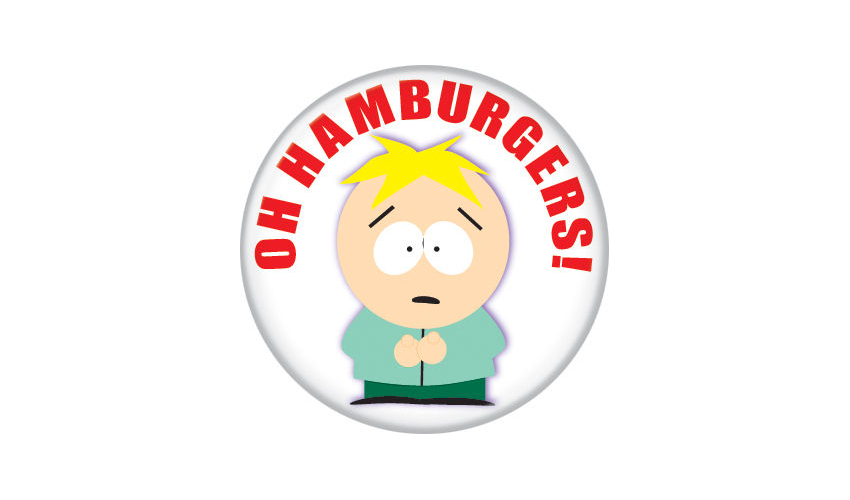 South Park Butters Oh Hamburgers! Pin Button - Pop Culture Spot