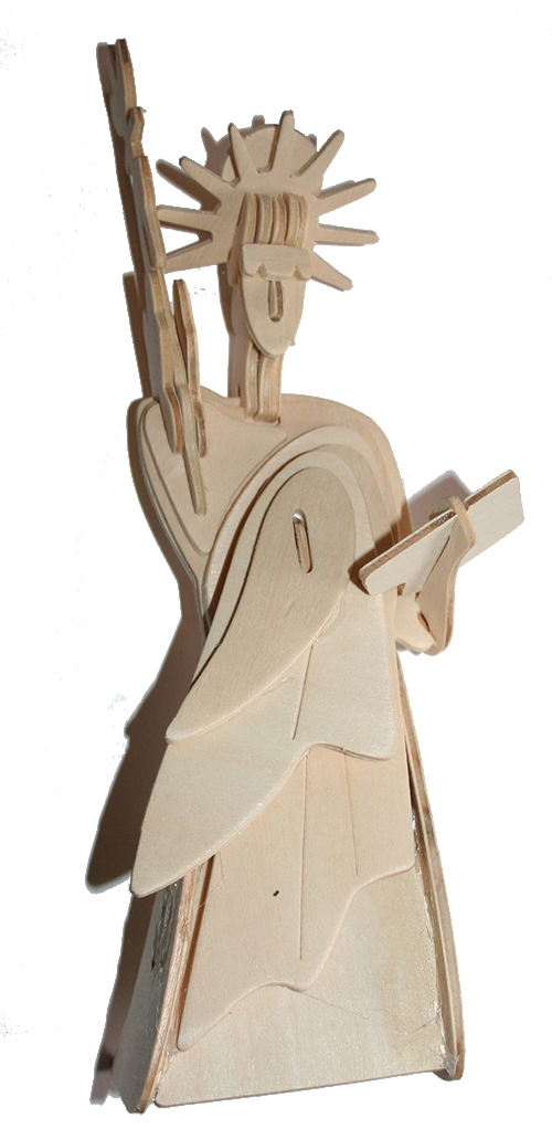 Lady Liberty Statue of Liberty 3-D Wooden Puzzle Wood Craft Construction Set - Pop Culture Spot