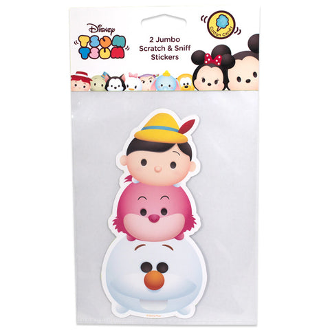 Disney Tsum Tsum Olaf Pinocchio Cheshire Cat Scratch & Sniff Stickers