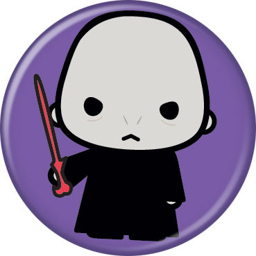 Harry Potter Voldemort Animated Style Character Pin Button - Pop Culture Spot