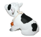 Cow bobble head doll side profile