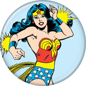 Wonder Woman Comic Book Style Pin Button