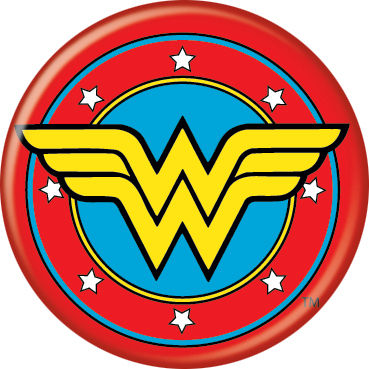 Wonder Woman Logo Pin Button