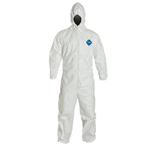 Tyvek® Coveralls (Elastic Wrist + Ankle, with Attached Hood)