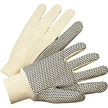 Cotton Canvas Gloves with Dots